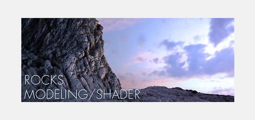 Rocks ! Modeling, Displacement & Shader Vray