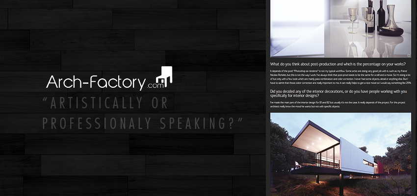 "Arch-Factory – ""Artistically or Professionaly speaking?"""