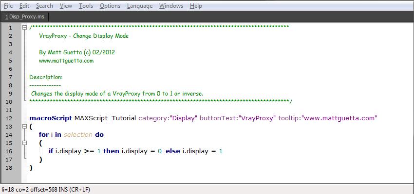 MAXScript et VrayProxy