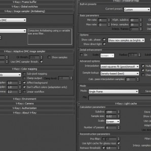 Render Settings - Manica Lunga Library