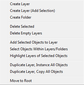 Nested Layer Manager Menu