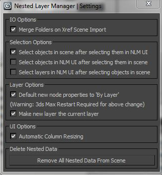 Nested Layer Manager Settings
