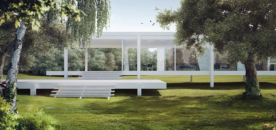 Farnsworth House par Romuald Chaigneau