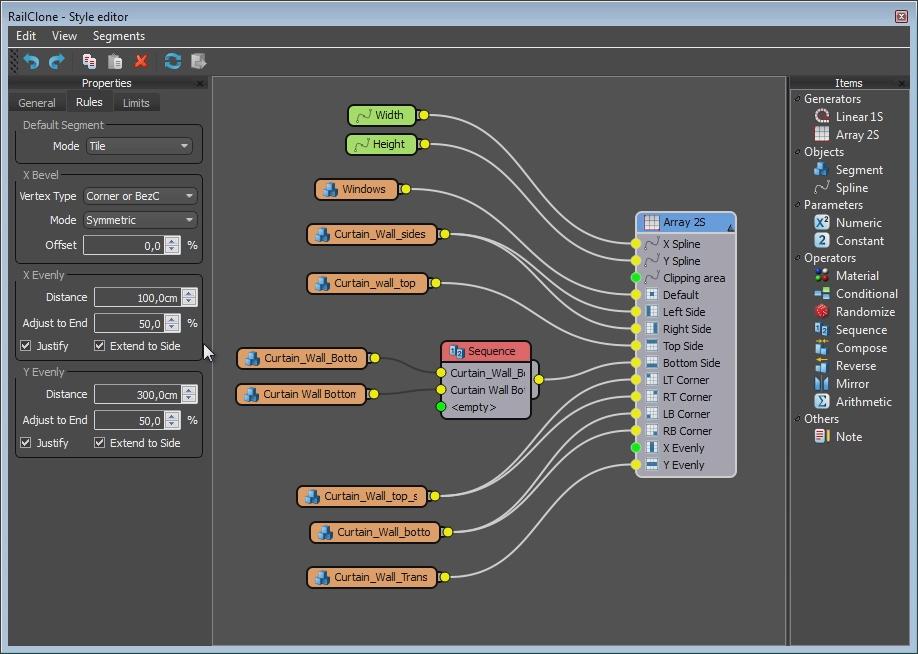 Railclone 2 node editor
