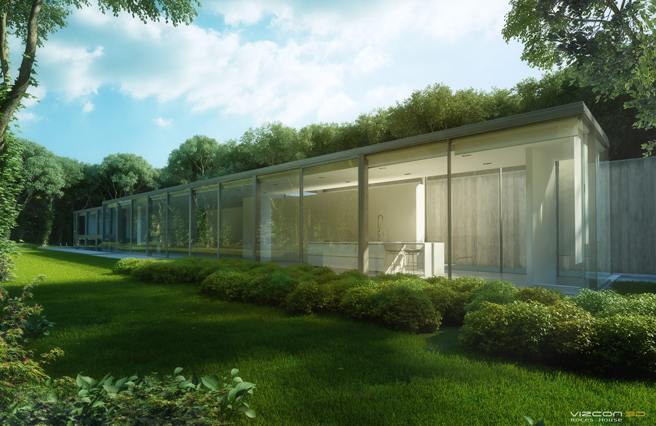 Roces house making of par patric verstraete de vizcon 3d for Exterior background