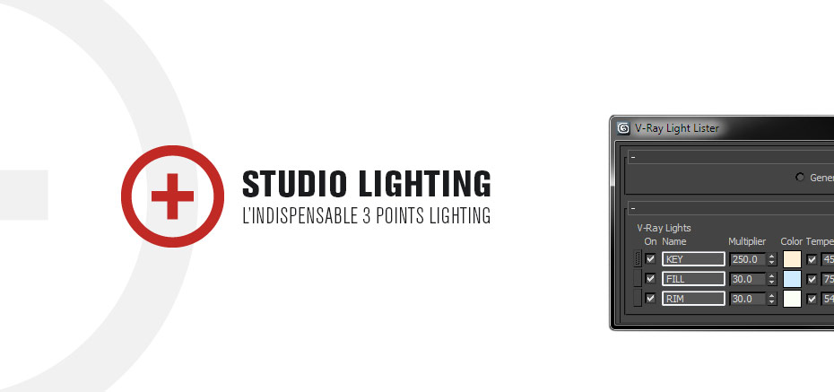 Studio Lighting – 3 Points Lighting